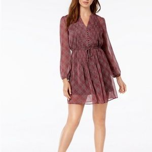 Maison Jules Fit and Flare A Long Sleeve Dress